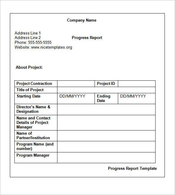 project report format in word