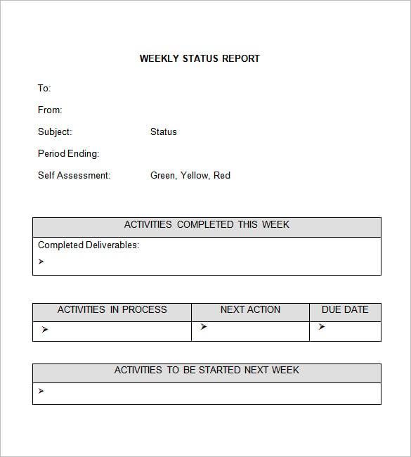 Word Report Template Examples Datariouruguay