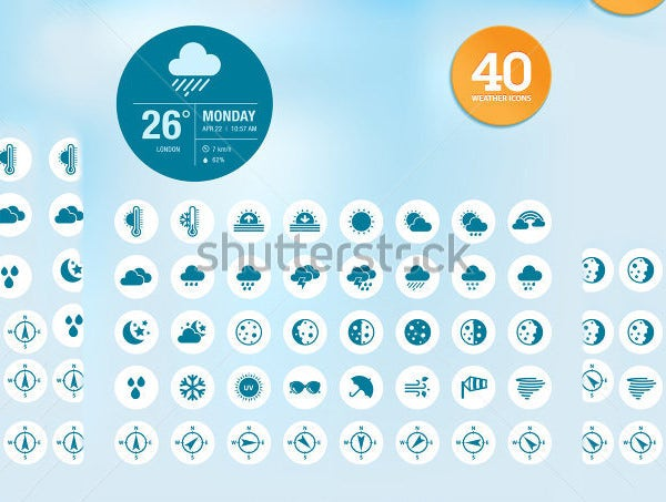 widget weather icons collection