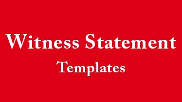 witness statement template featured image
