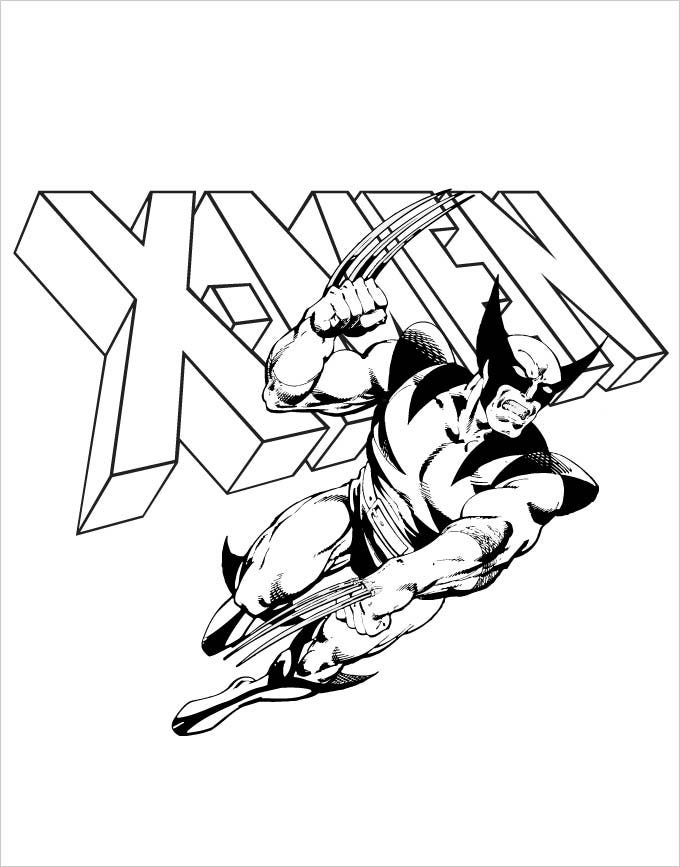 rogue x men coloring pages - photo#50