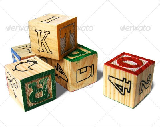 wooden alphabet letter blocks 1