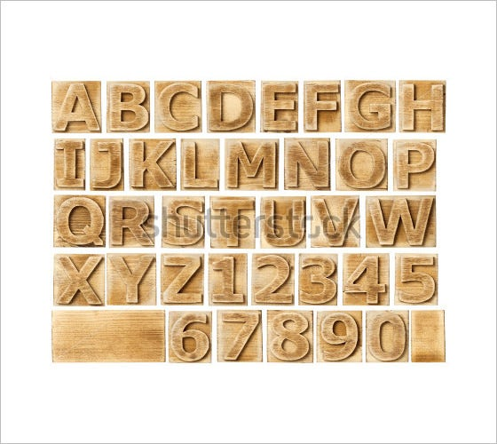 wooden alphabets and numbers in blocks