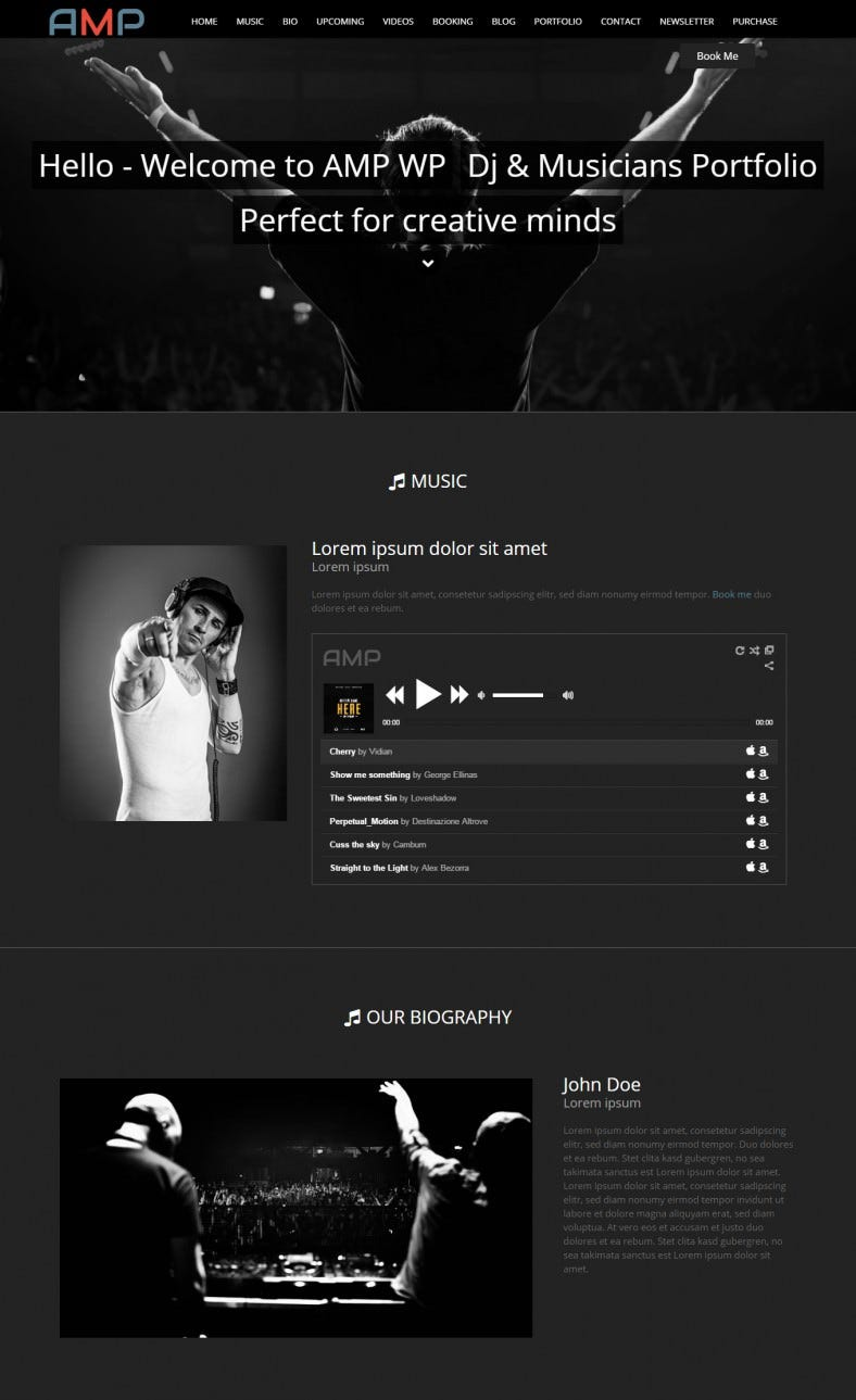 Best DJ WordPress Website Templates Themes Free Premium - Dj website templates