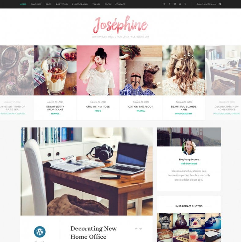 WordPress Theme For Lifestyle Bloggers