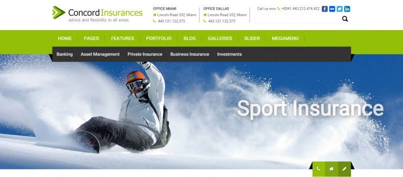 WordPress Theme for Insurance Broker