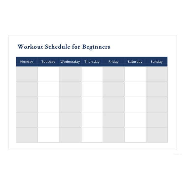 27+ Workout Schedule Templates - PDF, DOC | Free & Premium Templates