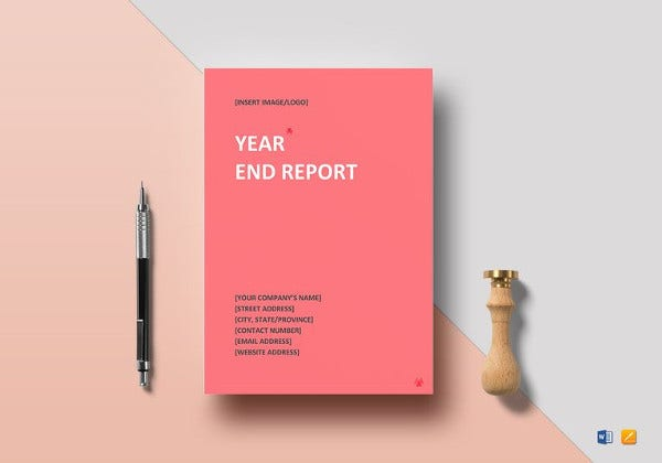 year end report template in google docs