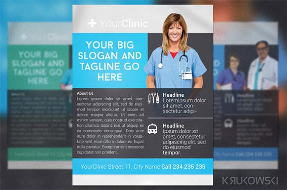 yourclinic medical poster template