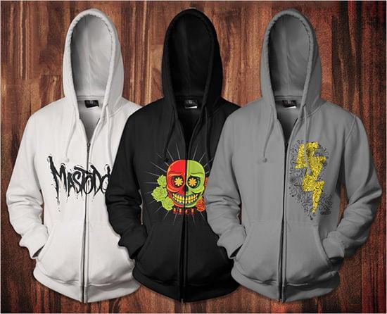zip up hoodie mockup templates