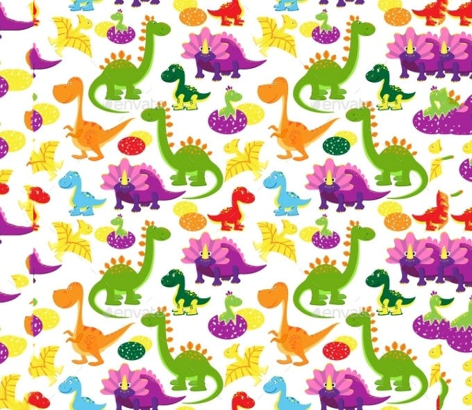 baby dinosaurs pattern