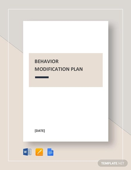 behaviour modification plan