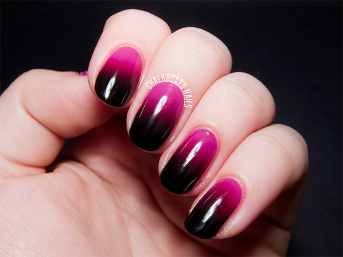 Black and Pink Nail Design - 40+ Fabulous Collection Of Pink Nail Designs Free & Premium Templates