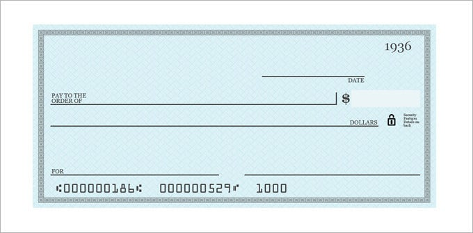 blank check template  u2013 30  free word  psd  pdf  u0026 vector