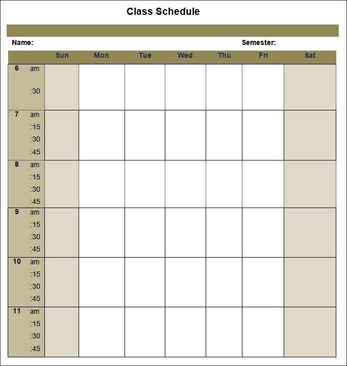 college schedule templates 12 free word excel pdf format download free premium templates. Black Bedroom Furniture Sets. Home Design Ideas