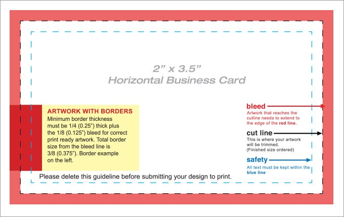 blank business card template pdf
