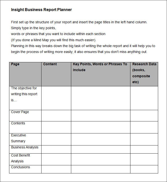 Business Report Sample  Business Report Layout Example