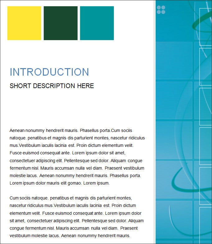 Short Report Template Word  BesikEightyCo