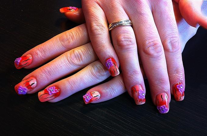 cute 3d nail design