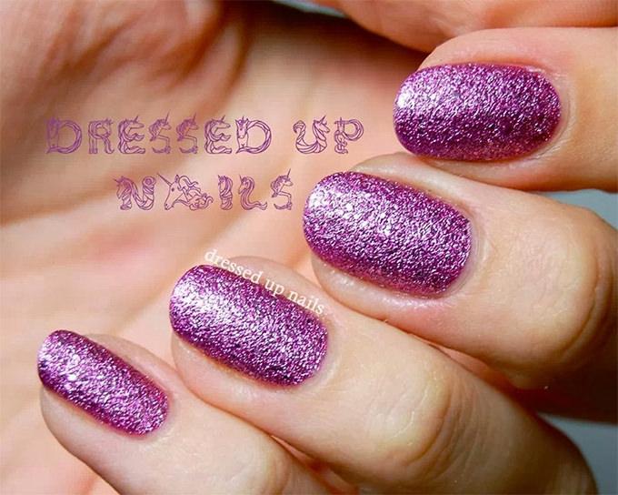 dark pink nail design