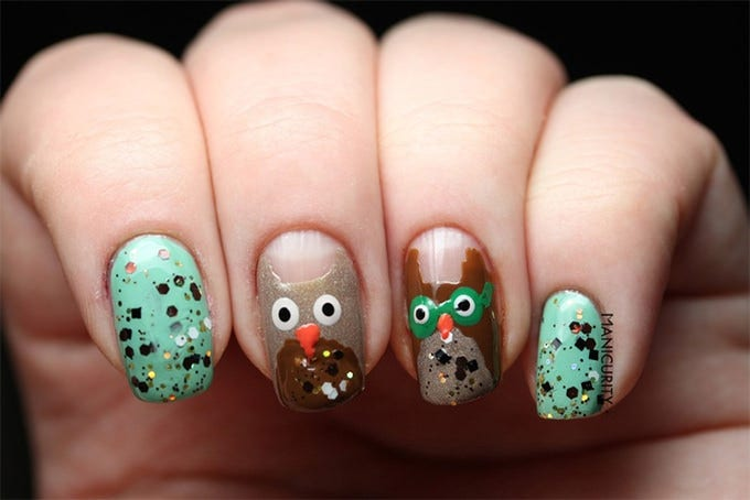 easter bunny nail art