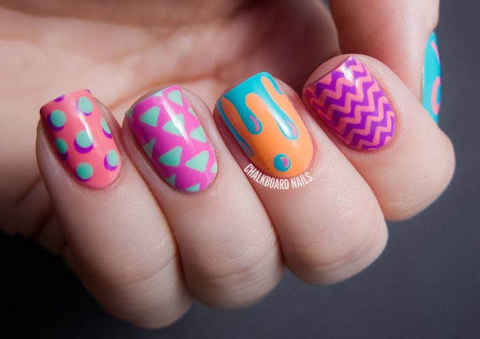 easter egg nail art design