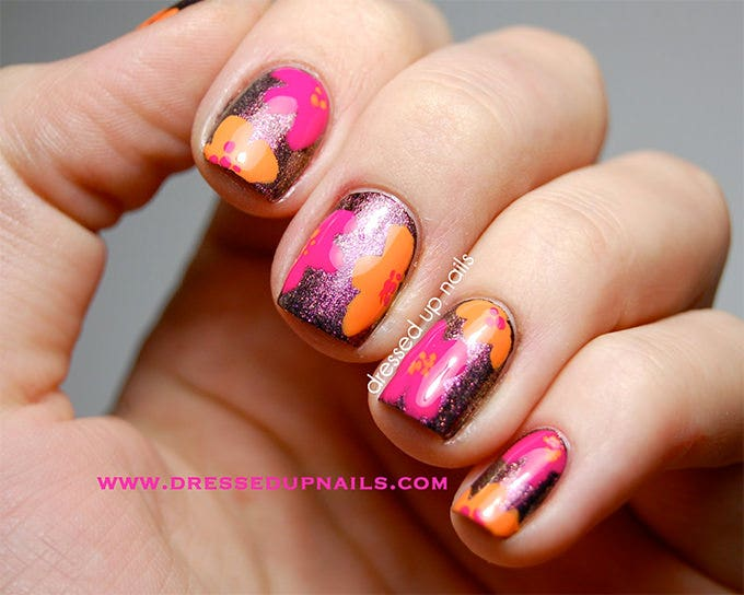 easter egg nail design