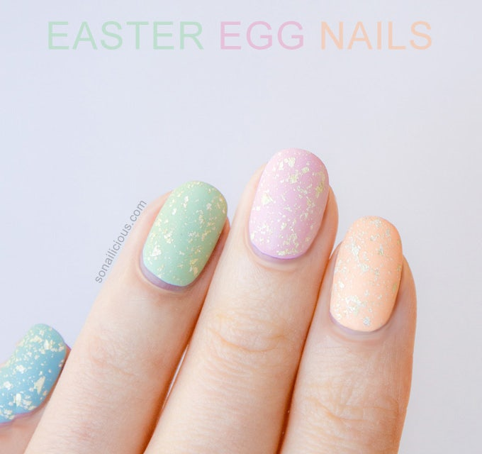 easter gel nail design