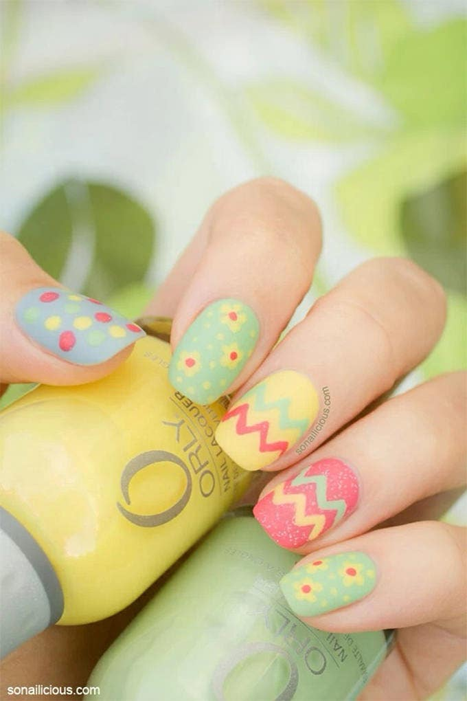 easy easter nail art