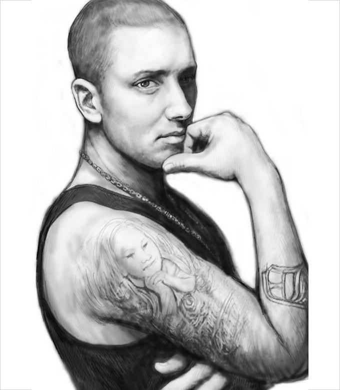 eminem art drawing sketch portrait