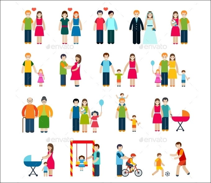 family figures icons 10022090