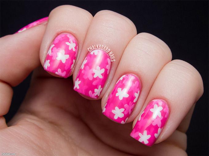 flower nail art 2