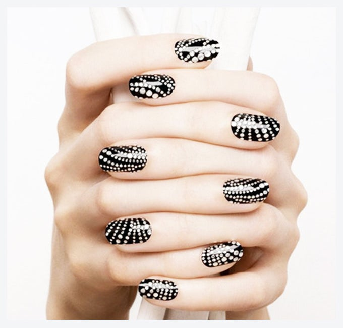 glitter easy nail designs