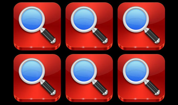 i icons by treetog search icon