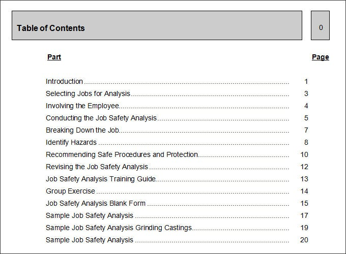 Job Safety Analysis Template 7 Free Word PDF Documents Downlaod – Hazard Analysis Template