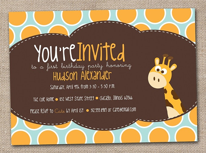 Kids Invitation Template 16 Free PSD Vector EPS AI Format – Format for Invitation