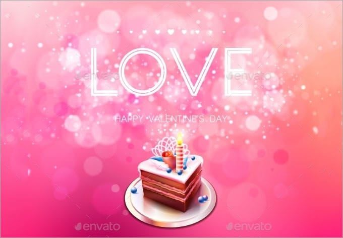 love and cake bokeh background