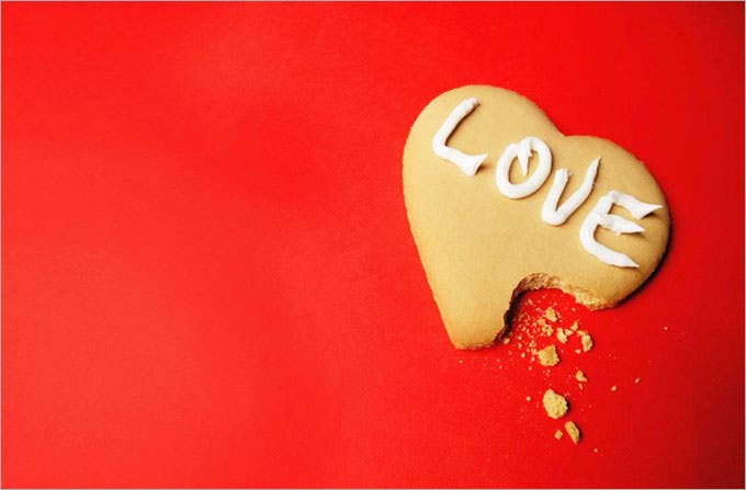 love cookie red background