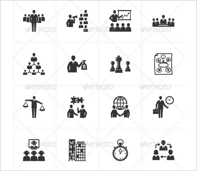 management and business icons 2560622