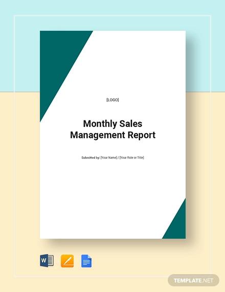 monthlu sales management report