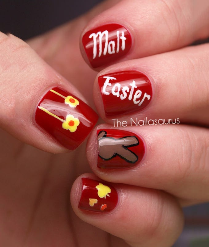 41+ Simple and Best Easter Nail Art Designs | Free & Premium Templates