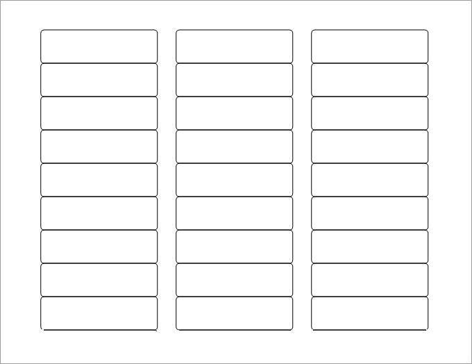 Blank Address Label Template