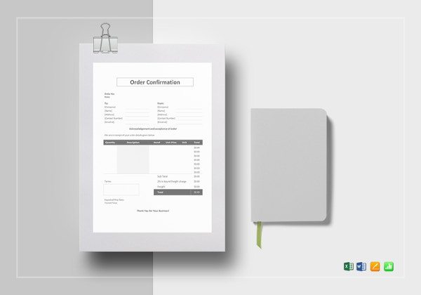 order confirmation template2
