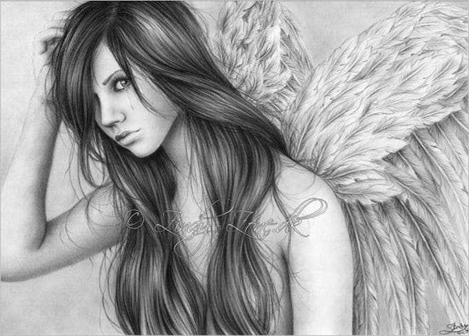 pencil drawings of angel tears1