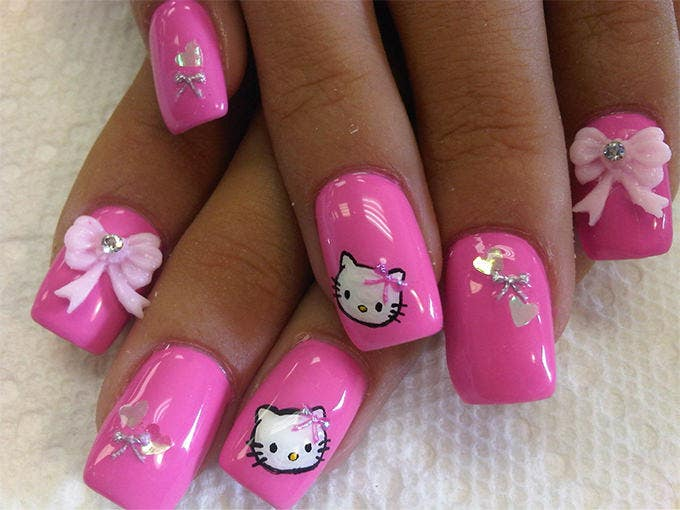 pink nail colour