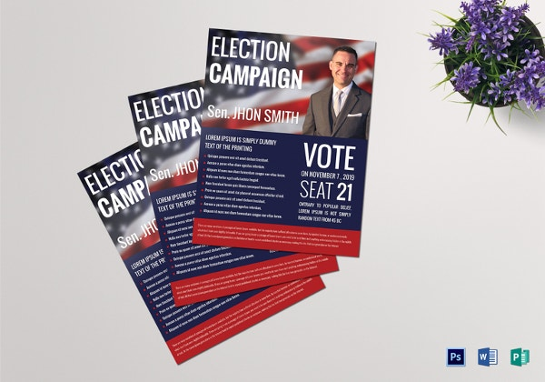 Political Flyers Free PSD EPS AI Format Download Free - Political campaign brochure template