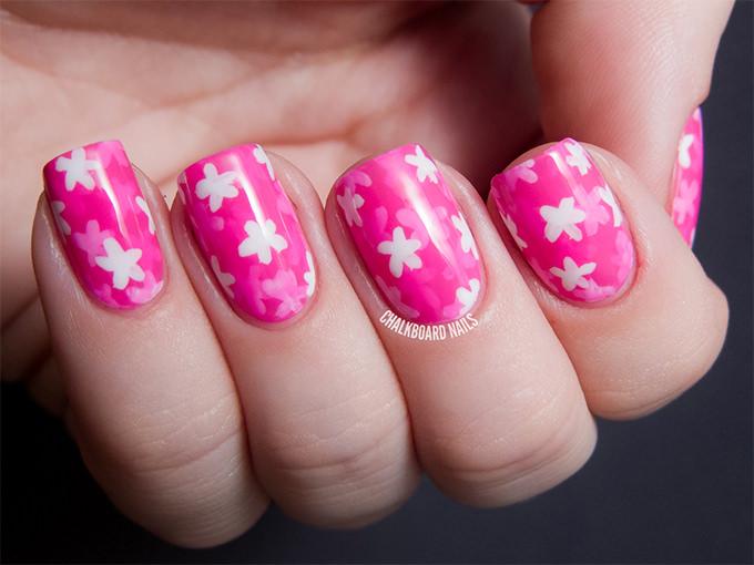 pretty pink nail design