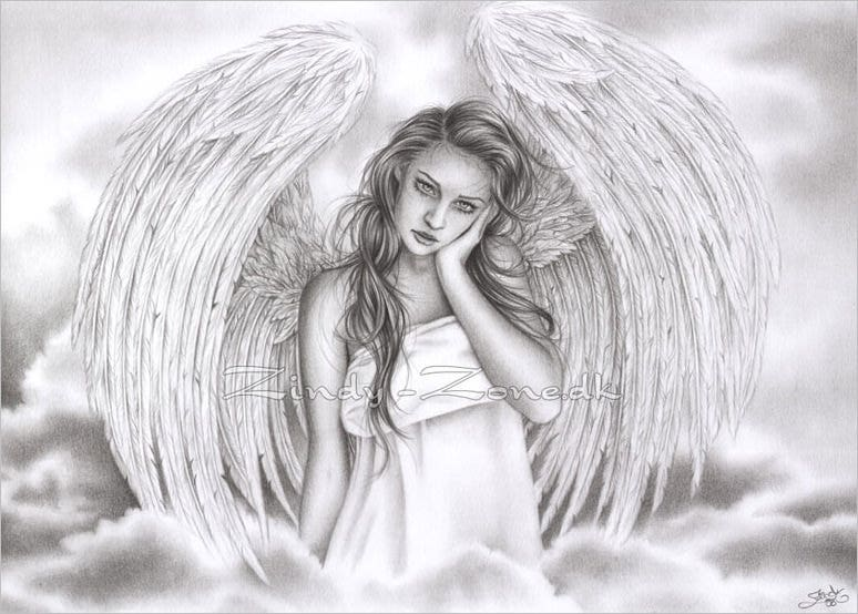 28  angel drawings