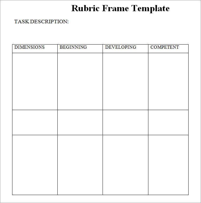 Blank rubric template rubric template free premium for Rubric maker template