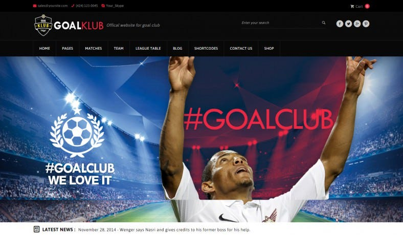 Tennis Club WordPress Template